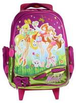 Рюкзак школьный 41*30 см на колесиках, выдвигающаяся ручка.